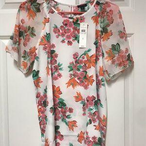 NWT Ann Taylor Floral Blouse